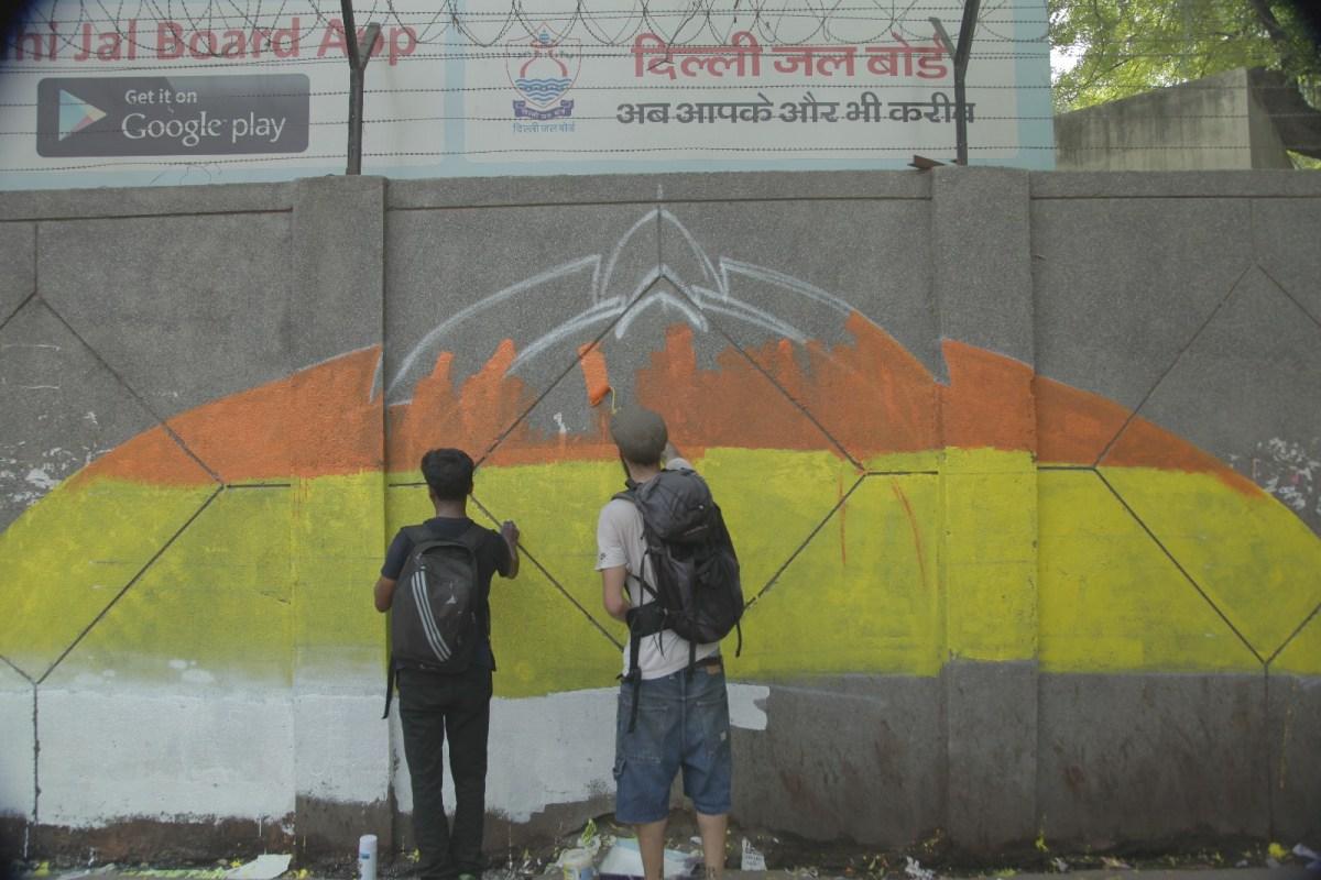 RSS Members Threaten Artists Painting Urdu Couplet