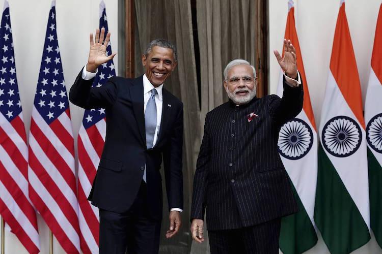 Prime Minister Narendra Modi with President Barack Obama. Credit: Reuters