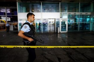A police officer patrols at Turkey's largest airport, Istanbul Ataturk, following the blast on Tuesday, June 29, 2016. Credit: Reuters/Osman Orsal