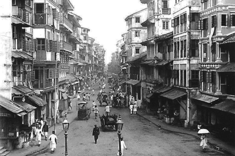 A photo of Bhendi Bazaar as it was and still is