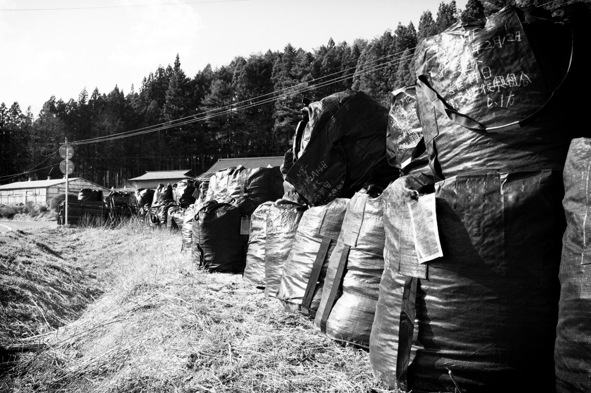 Bags of trash collected from Fukushima prefecture, Japan, in 2013. Credit: vannispen/Flickr, CC BY 2.0