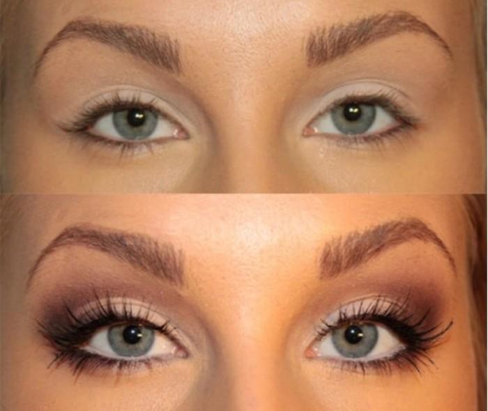 Маленькие глаза на большом лице макияж