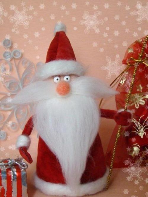 Дед мороз большой своими руками фото