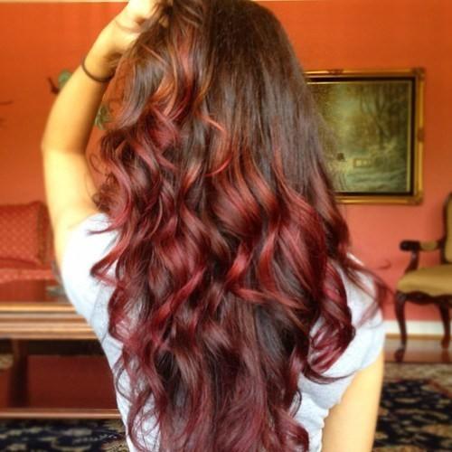 Окрашивание на длинные волосы