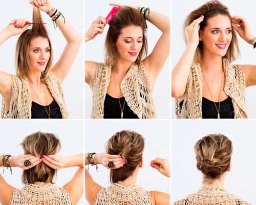 Как сделать лёгкую причёску с короткими волосами