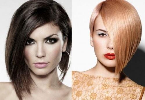 Стрижки женские на средние волосы асимметрия 2016