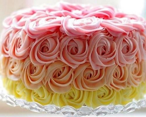 Розы из крема для торта рецепт с пошагово