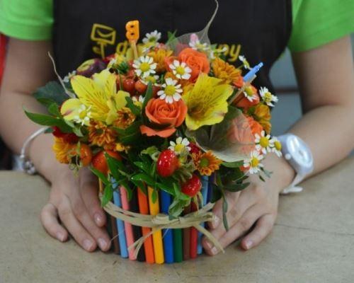 Подарок на день рождения учительнице от класса 383