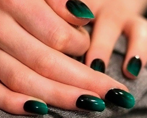 Ногти омбре зеленое фото