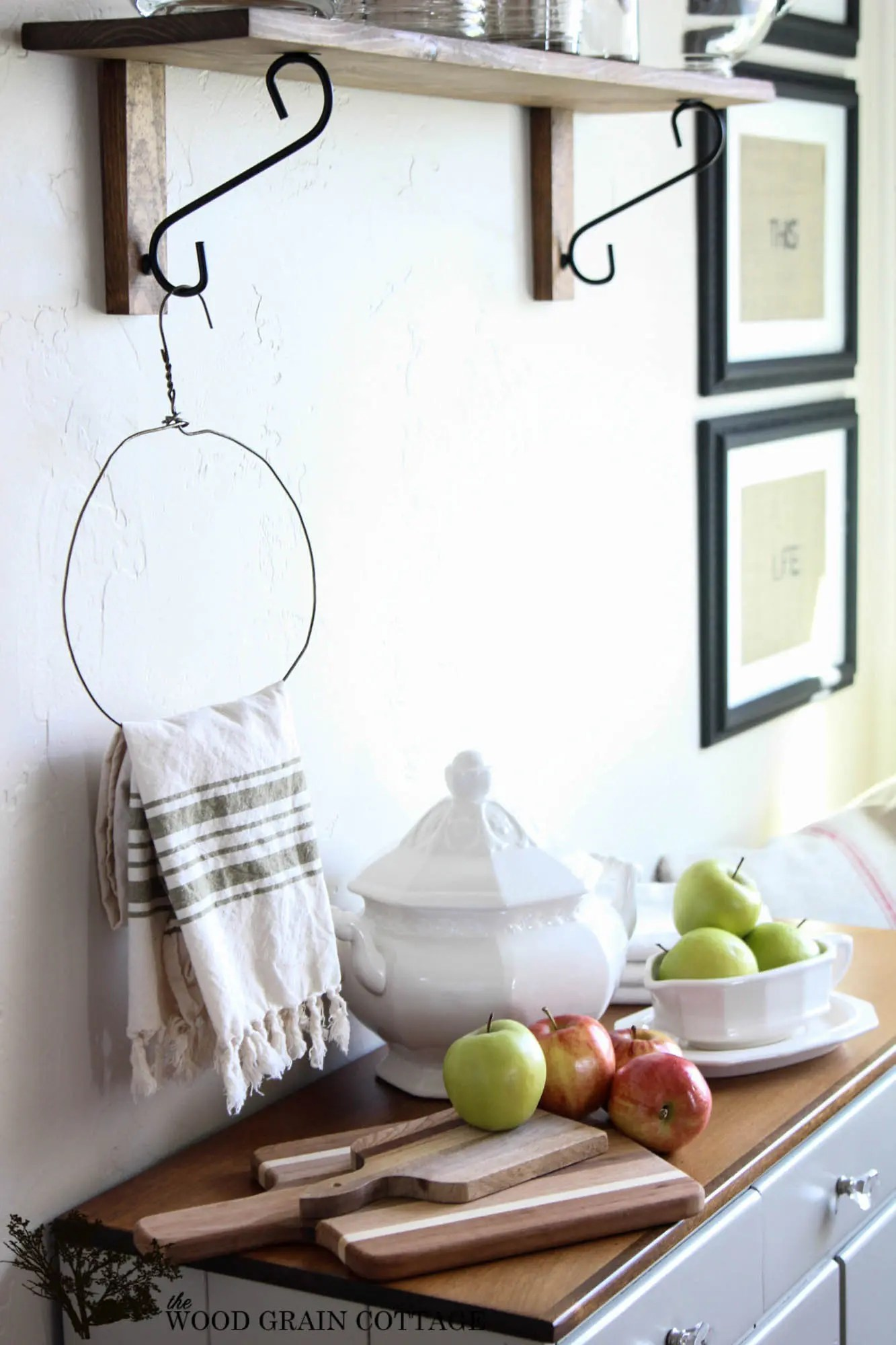 Farmhouse Hand Towel Holder Diy Primitive Kitchen Towel Holder Fox Hollow Cottage