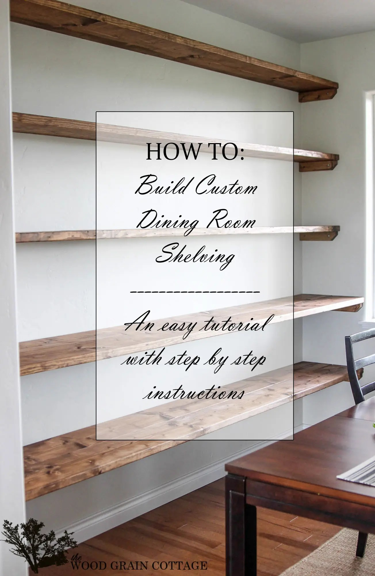 Dining Room Shelf Ideas Diy Dining Room Open Shelving The Wood Grain Cottage