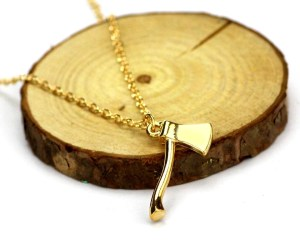 Wood Ax Necklace