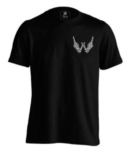 Reaper short Sleeve Black front