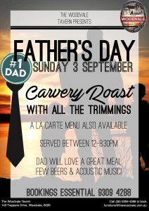 Father's Day 2017| The Woodvale Tavern| Northern Suburbs