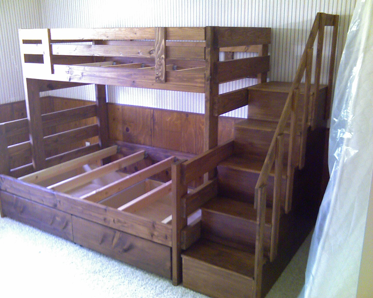 Building A Bunk Bed With Stairs Bunk Beds Diy Bunk Beds With Stairs Diy Bunk Beds For