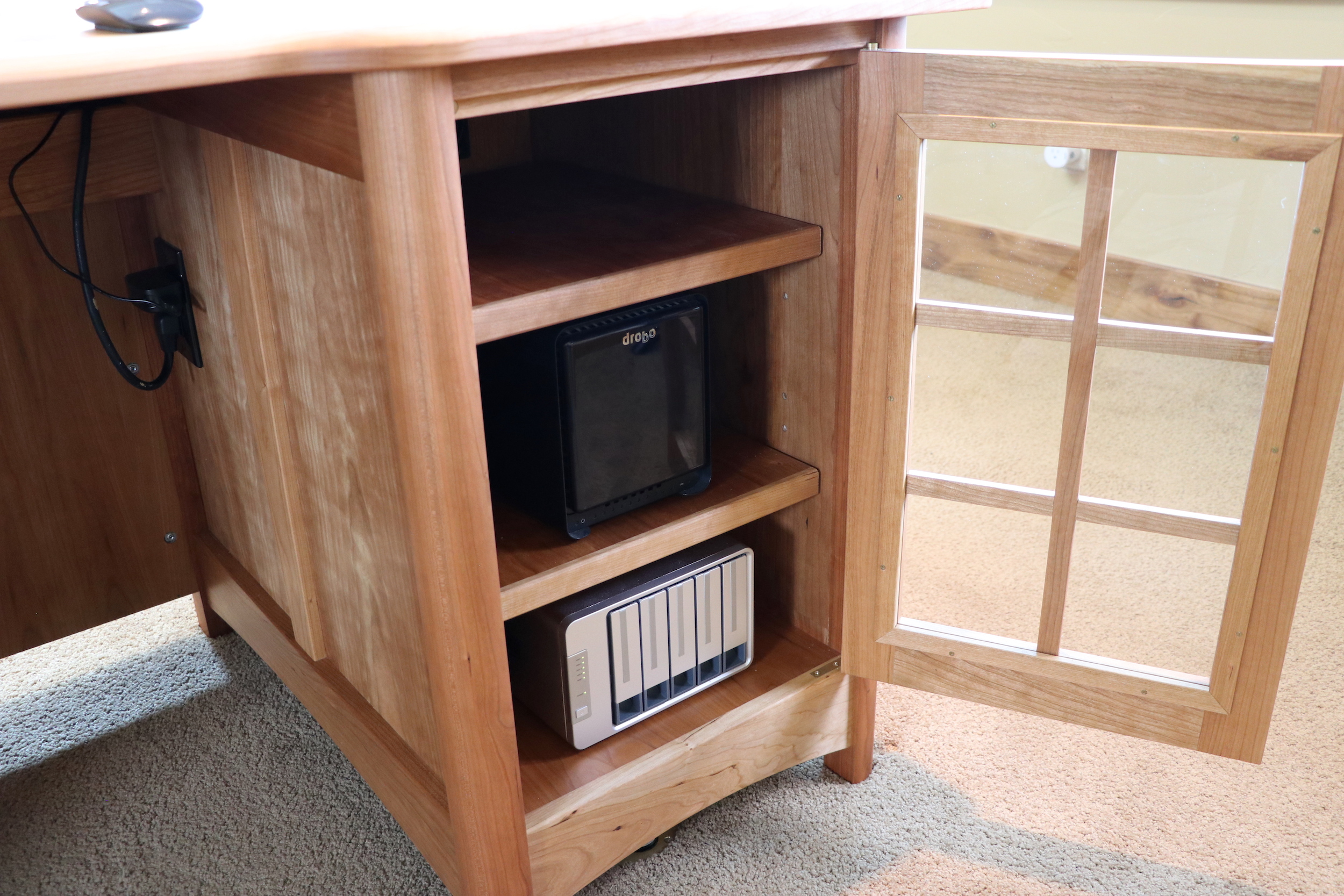 Hidden Desk Executive Desk With Wireless Charging And Hidden Drawer The Wood