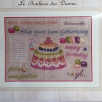 Les Bonheur des dames kit punto de cruz cumpleaños, cocina