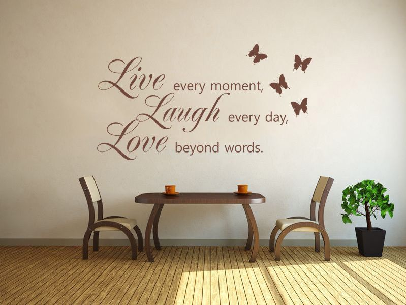 The Yellow Wallpaper Nursery Quotes Live Laugh Love Wall Art Sticker Wall Sticker Decal Vinyl