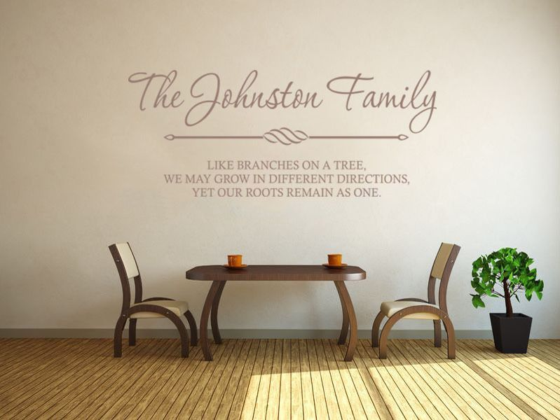 Black And White Wallpaper Bedroom Ideas Personalised Family Wall Art Amp Quote Wall Sticker Decal