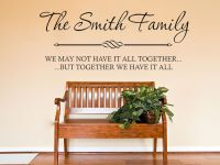 PERSONALISED Family Wall Quote Wall Art Sticker Modern ...