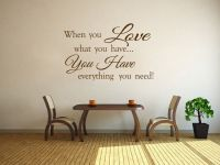When You Love... Family Wall Art Quote Vinyl Wall Art ...