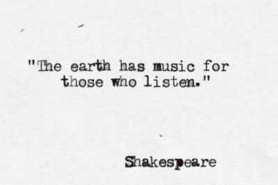 The Earth has music.