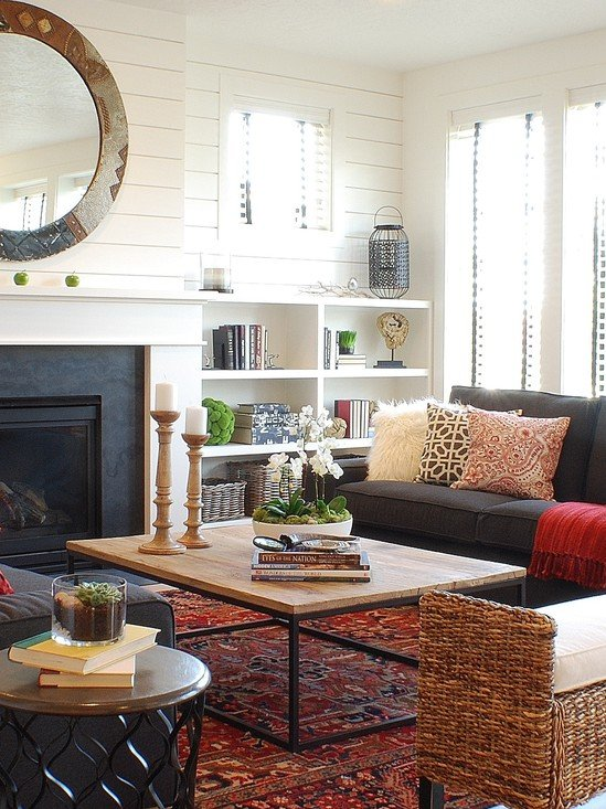 Houzz Electric Fireplace 21 Stunning Eclectic Living Room Designs