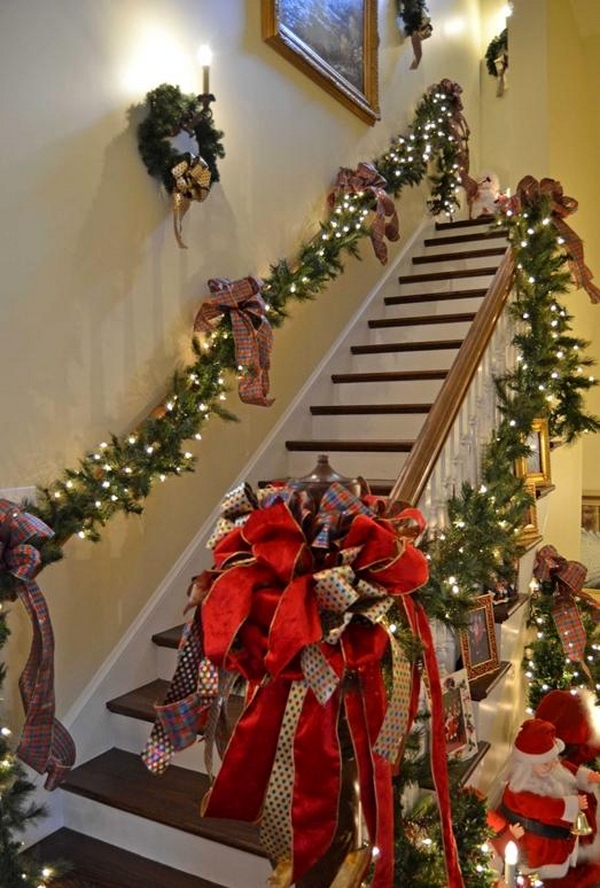 Best Office Decoration 30 Best Christmas Staircase Decoration Ideas · Wow Decor