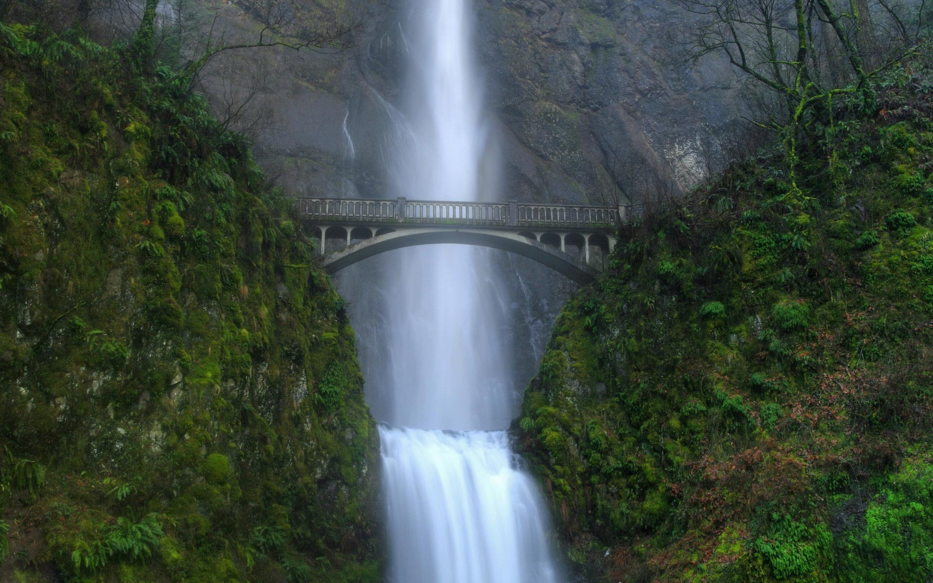 Multnomah Falls Oregon Wallpaper Beautiful Waterfall Pictures And Wallpapers The Wow Style