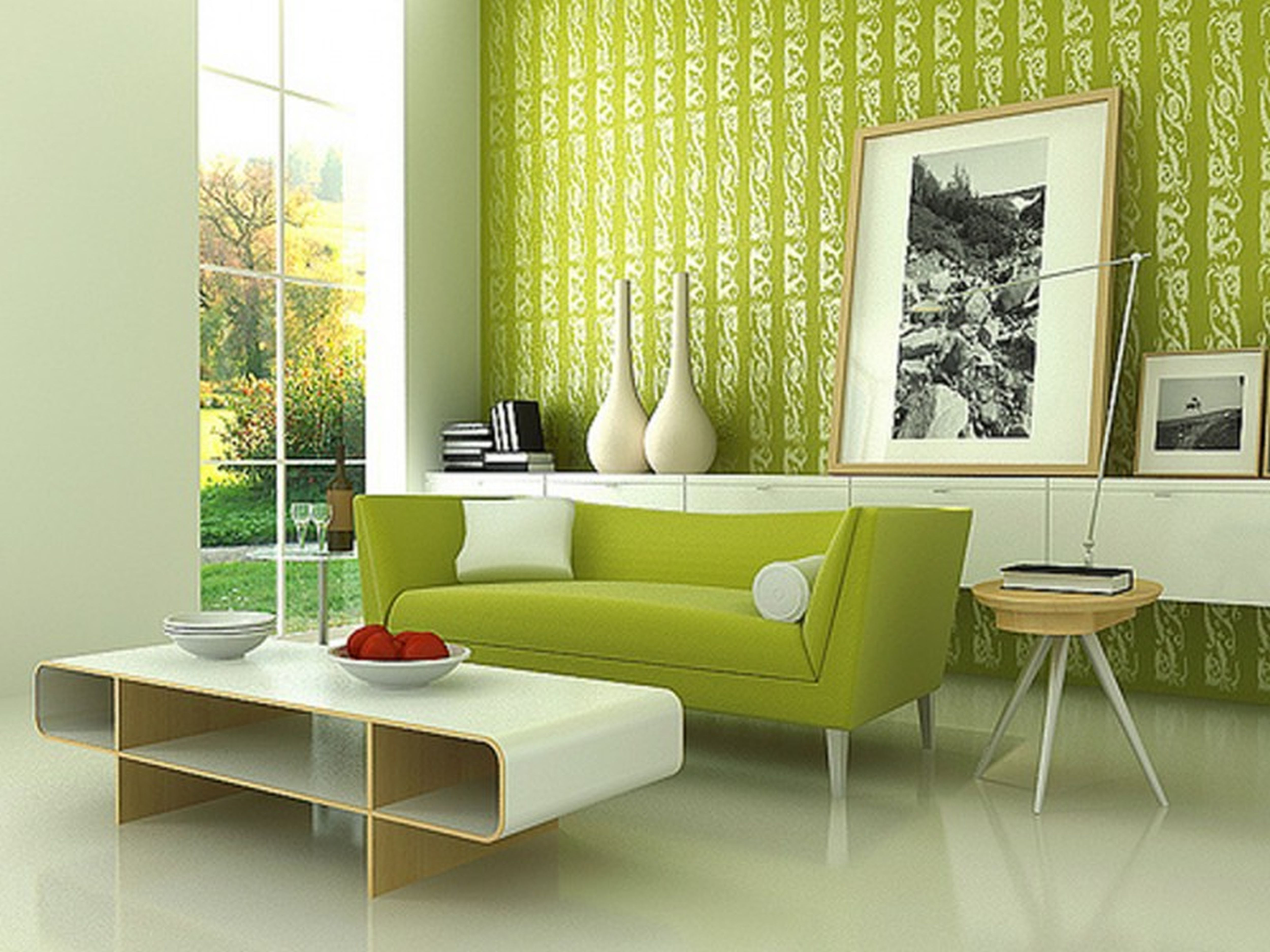 Home Interior Wall Decorations Green Interior Design For Your Home