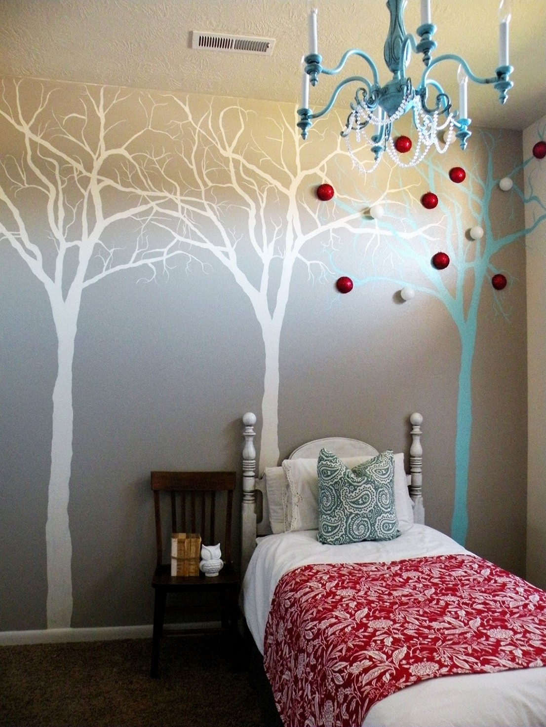 Bedroom Wall Art Trees 60 Classy And Marvelous Bedroom Wall Design Ideas