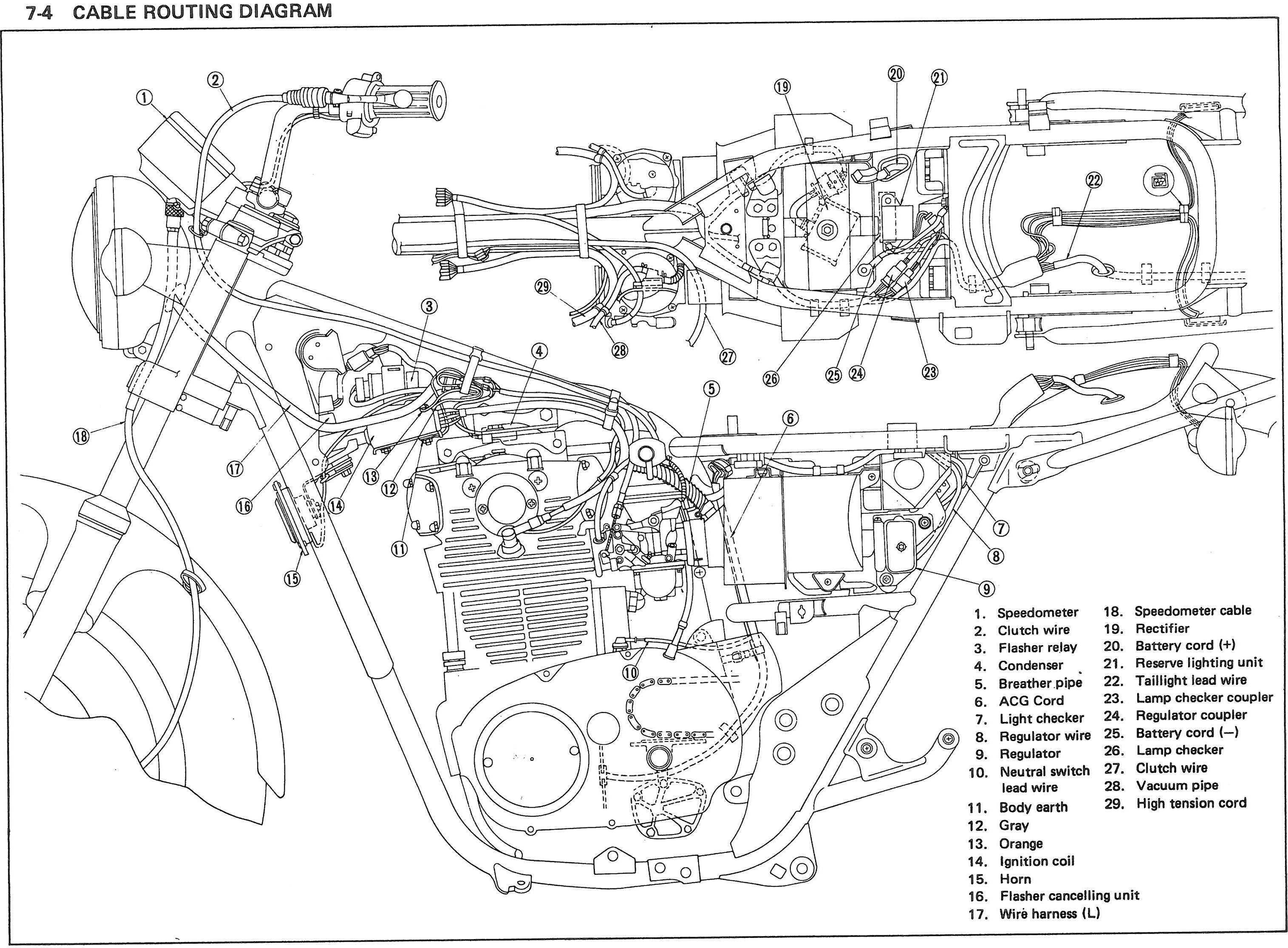 xs 400 special wiring diagram