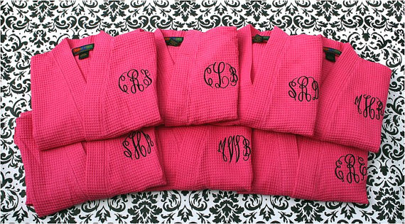 monogram robes for bridesmaids