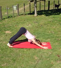 Delighting in strong asana, pre-child days