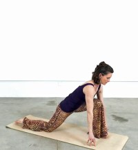 A deceptively simple but powerful posture - notice the hands in mudra.
