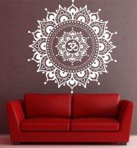 Big Mandala Lotus Flower Wall Decal Vinyl Art Sticker
