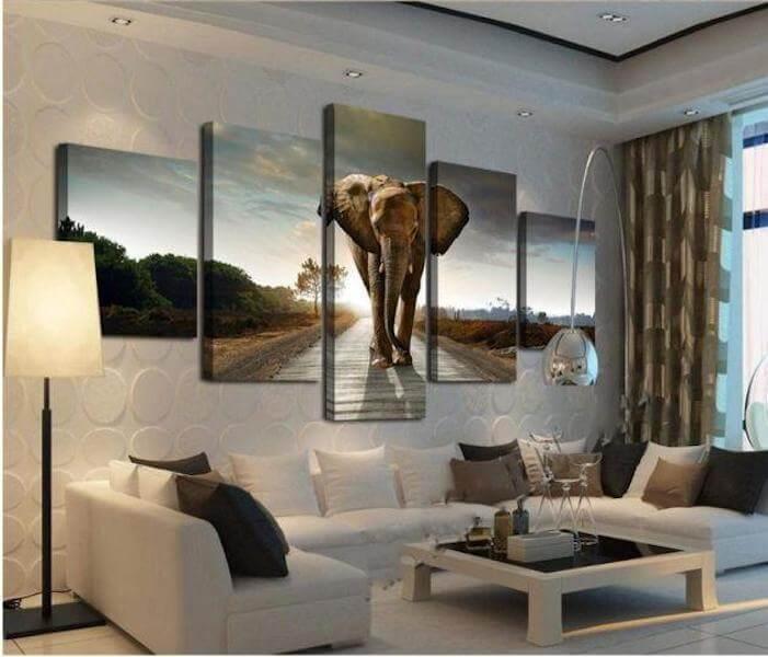 Best Radha Krishna Hd Wallpaper Lucky Elephant 5 Piece Canvas Painting The Yoga Mandala Shop
