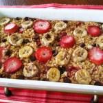 (Gluten-free) Baked Oatmeal Casserole