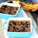 Single Serve Blueberry Banana Oatmeal Bake