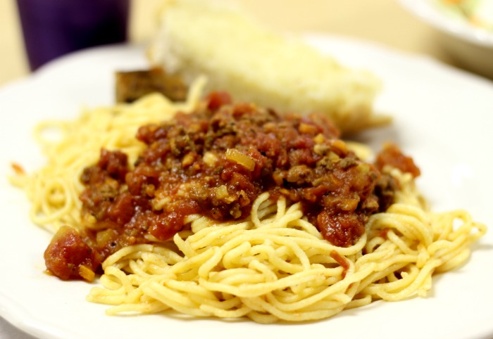 pasta with bolognais sauce