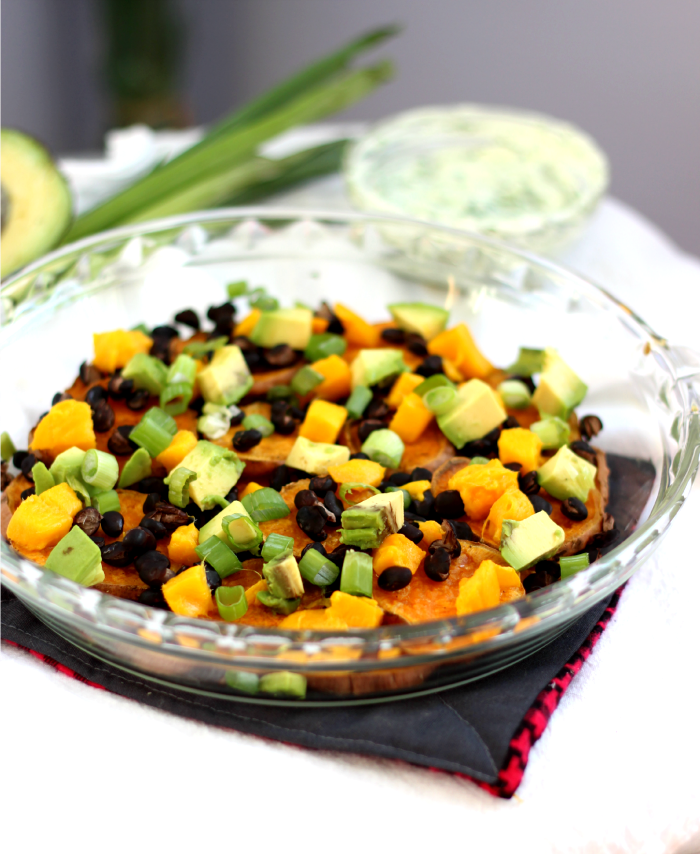 Black Bean Mango Sweet Potato Nachos