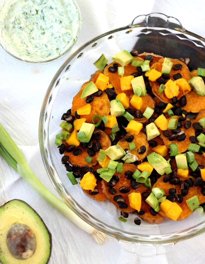 Black Bean Sweet Potato Nachos