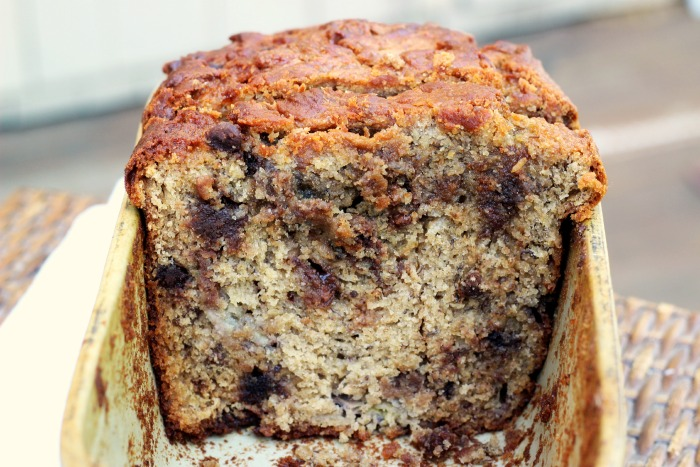 peanut butter swirled banana bread on theyoopergirl.com