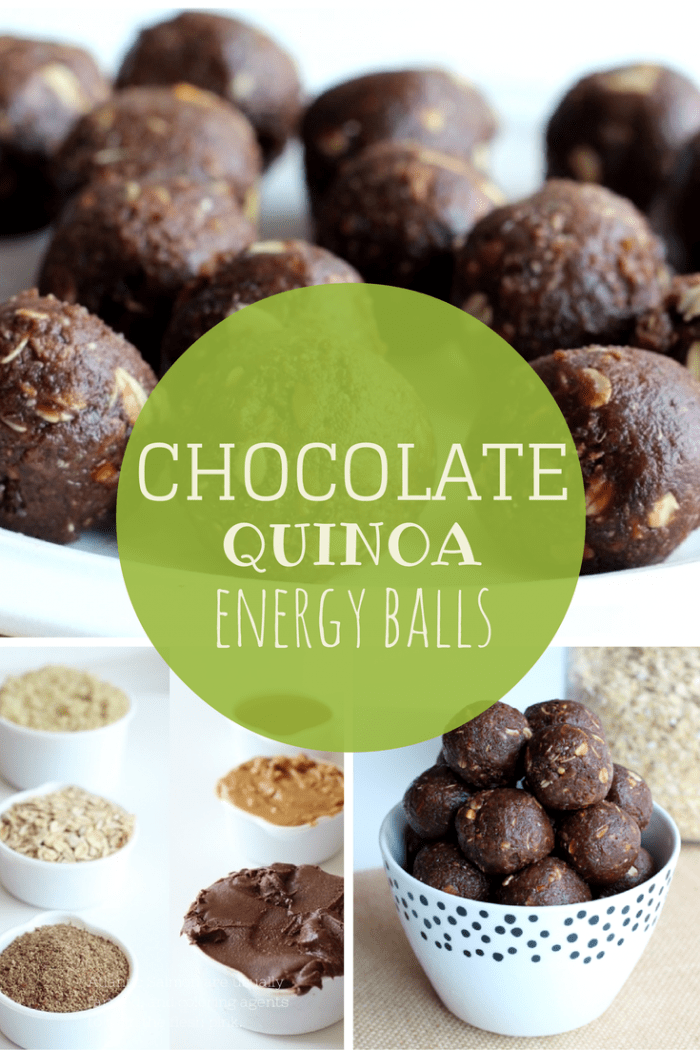 Chocolate Quinoa Energy balls on theyoopergirl.com