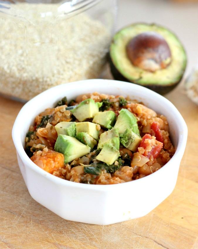 Vegan Quinoa Sweet Potato Kale Chili