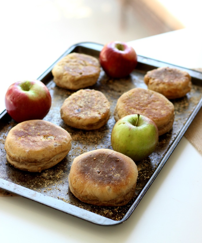apple pie spiced english muffins on the yooper girl