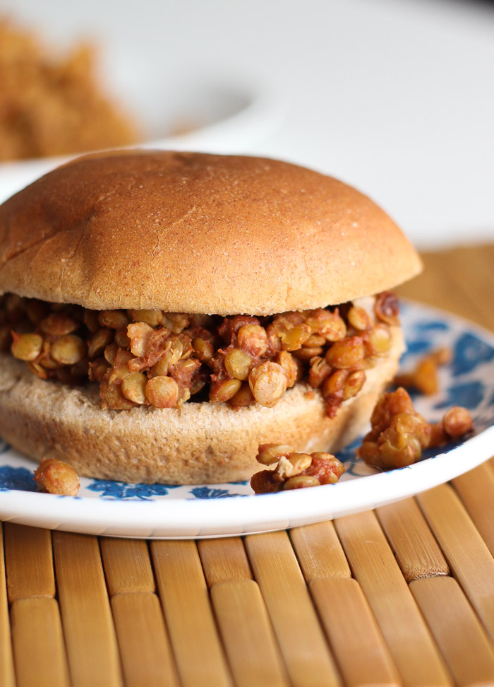 Vegan Lentil Sloppy Joes - all the flavor of traditional without the meat!-4
