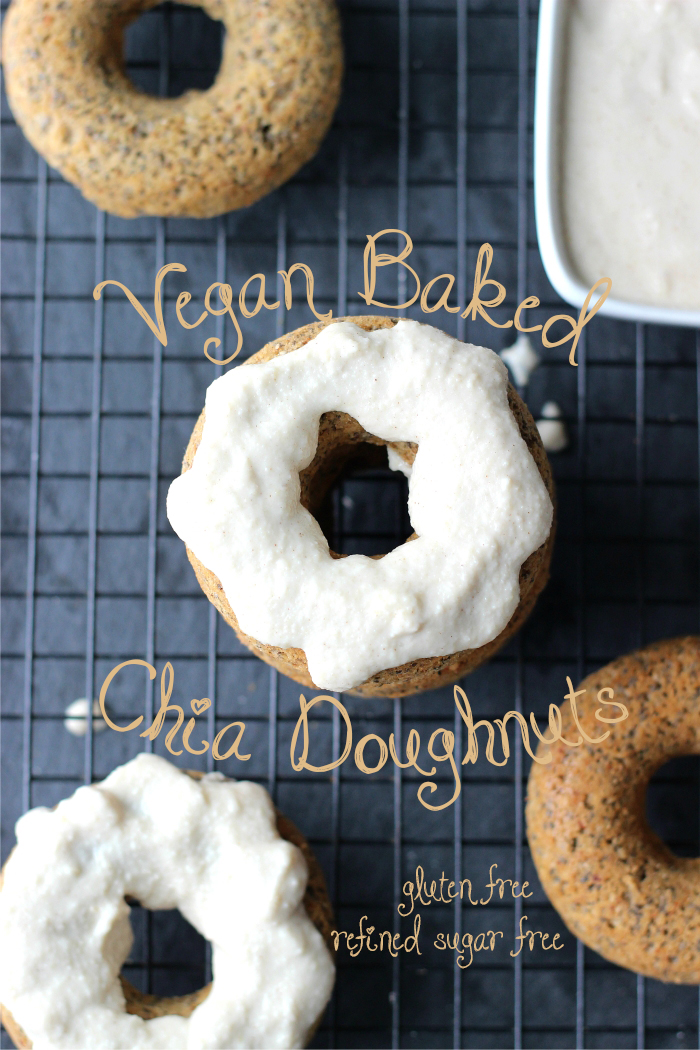 HEALTHY doughnuts made with quinoa and chia seeds. They are vegan, gluten free, and healthy enough for breakfast!