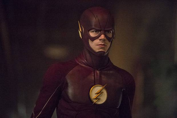 """The Flash -- """"Flash of Two Worlds"""" -- Image FLA202A_0116b -- Pictured: Grant Gustin as the Flash -- Photo: Cate Cameron/The CW -- © 2015 The CW Network, LLC. All rights reserved."""