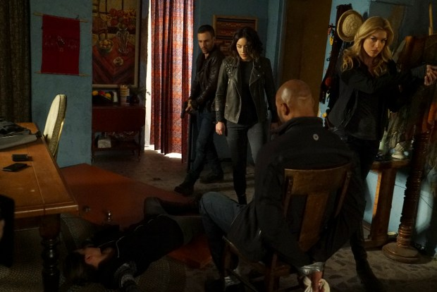 """MARVEL'S AGENTS OF S.H.I.E.L.D. - """"Bouncing Back"""" - In the midseason premiere, """"Bouncing Back,"""" in the aftermath of his trip to Maveth, Coulson is more determined than ever to get to Gideon Malick and put an end to Hydra once and for all. Meanwhile, Daisy and the team encounter more Inhumans who have powers like they've never seen before, but will they be friends or enemies of S.H.I.E.L.D.? """"Marvel's Agents of S.H.I.E.L.D."""" returns for a game-changing second half of Season Three, TUESDAY, MARCH 8 (9:00-10:00 p.m. EST) on the ABC Television Network. (ABC/Eric McCandless) NICK BLOOD, CHLOE BENNET, HENRY SIMMONS, ADRIANNE PALICKI"""